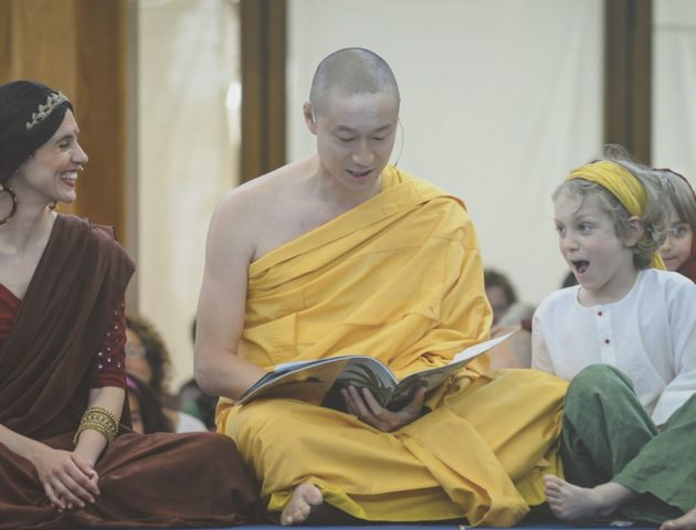 Buddha mit Kinder