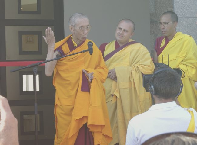 Geshe Kelsang Gyatso Tempel Eröffnung