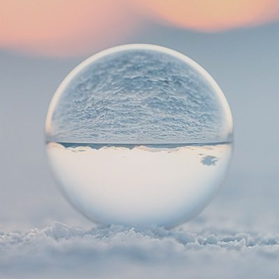 Bonneville Salt Flats low angle landscape view near Salt Lake City, Utah and sand texture with crystal ball reflection